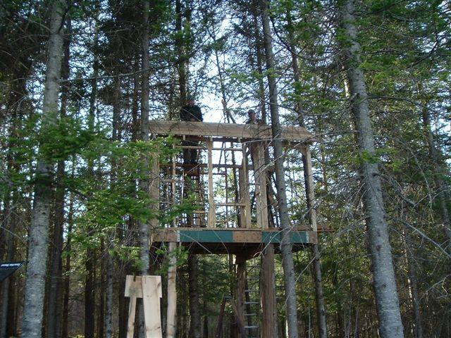 Noon ball busters for Deer stand made from pallets
